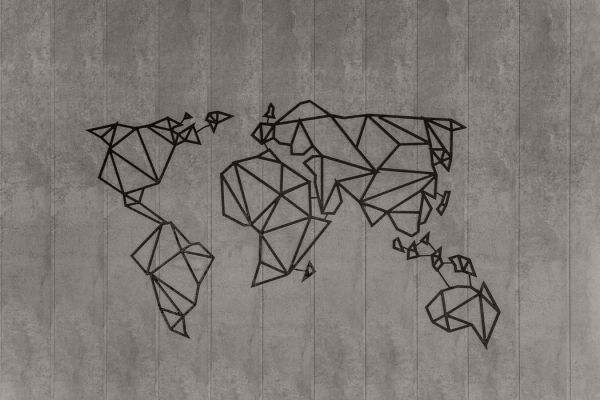 Abstract map of the world